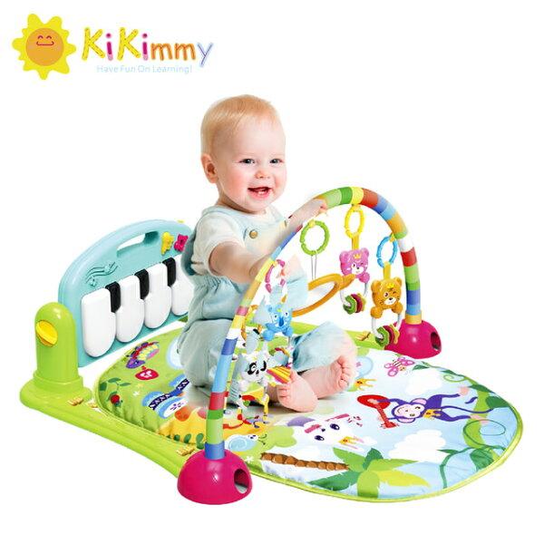 【滿499折50】kikimmy可愛動物嬰兒鋼琴健身架-綠K726G粉K726P【德芳保健藥妝】