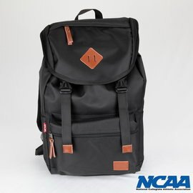 【002005-01】NCAA 防潑水豬鼻拉繩後背包 黑色