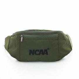 【002083-01】NCAA 宅生運動小腰包 絨毛LOGO 隨身萬用小腰包 - 絨字深綠