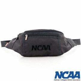 【002083-03】NCAA 宅生運動小腰包 絨毛LOGO 隨身萬用小腰包 - 絨字黑