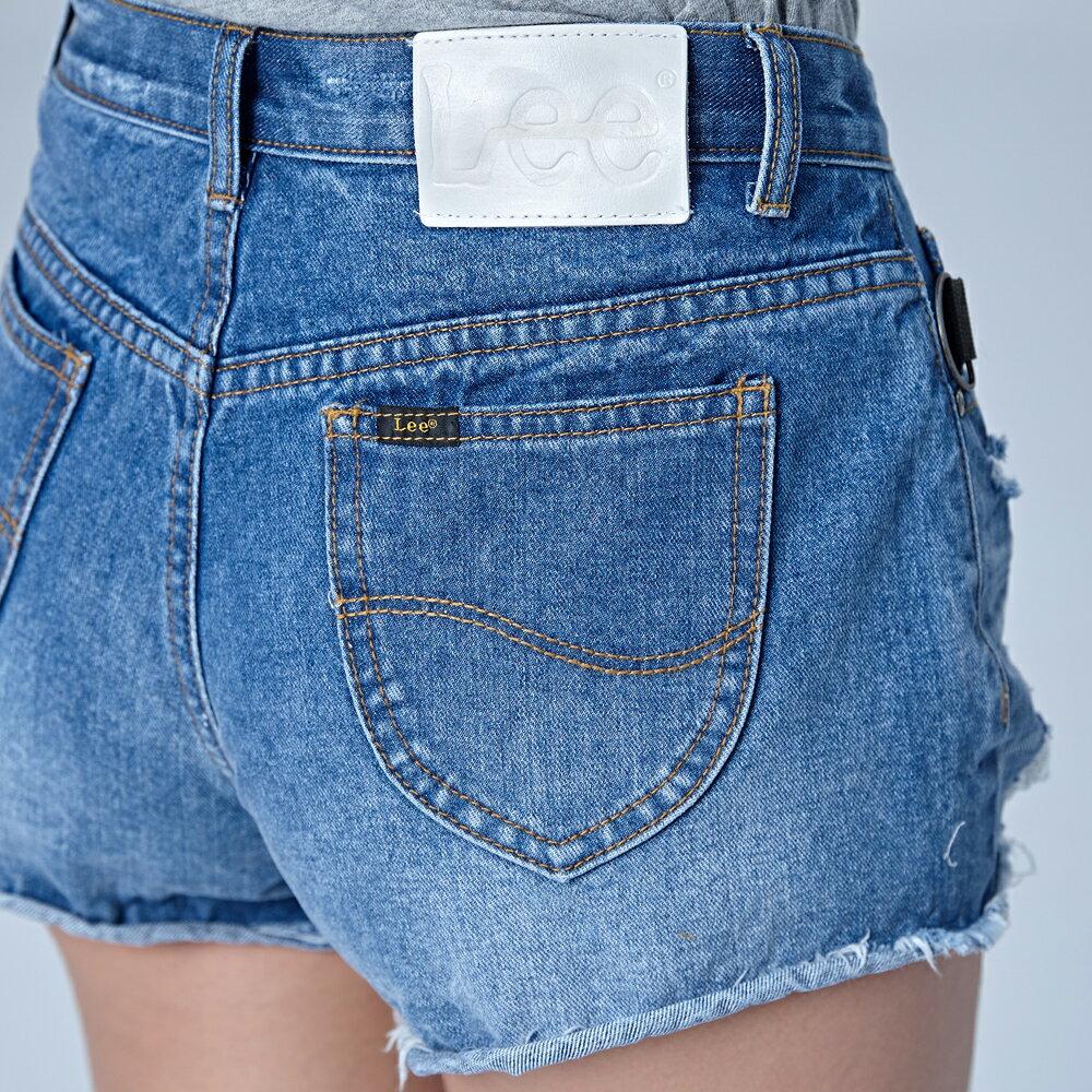 ❤ 領券再九折❤Lee 心機小性感破損牛仔短褲-水洗藍-女短褲-LL18 7