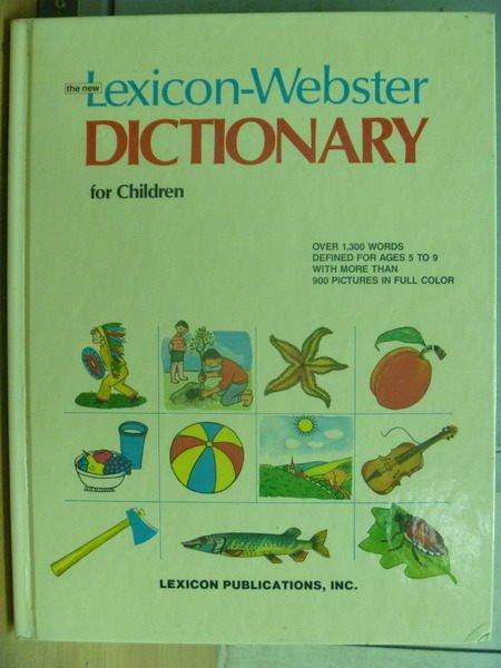 【書寶二手書T4/字典_ZHH】Lexicon-Webster Dictionary for Chirdern