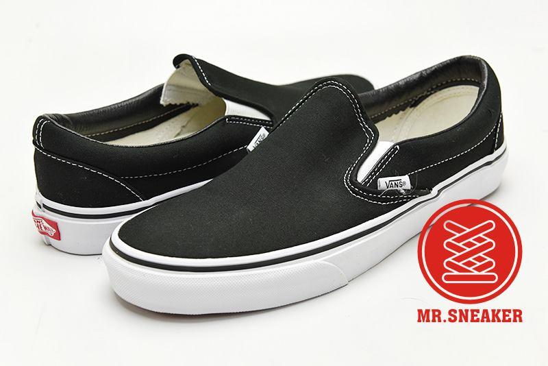 ☆Mr.Sneaker☆ VANS Classic Slip-On 經典/復古 /  休閒/滑板/懶人鞋 帆布 黑/黑白 男款/女款
