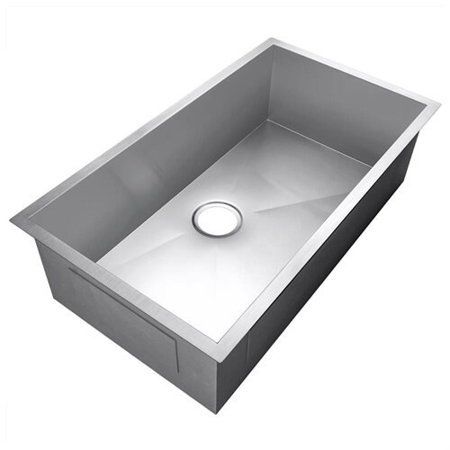"Golden Vantage 30"" 16 Gauge Stainless Steel Undermount Single Bowl Kitchen Sink 2"