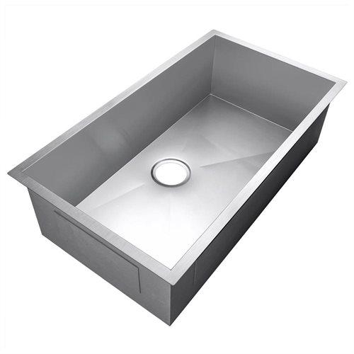 """Golden Vantage 30"""" x 18"""" x 9"""" 16 Gauge Stainless Steel Undermount Single Bowl Kitchen Sink 2"""
