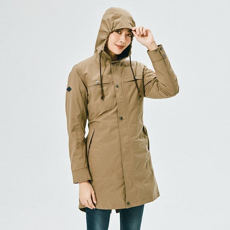 ADISI 女二件式長版防水透氣保暖外套(內件羽絨) AJ2021017 (S-2XL) / 城市綠洲 (長外套 超撥水 防風 鴨絨 FP600 戶外機能)