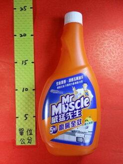 威猛先生 廚房全效 重裝 陽光檸檬 500g#重裝瓶