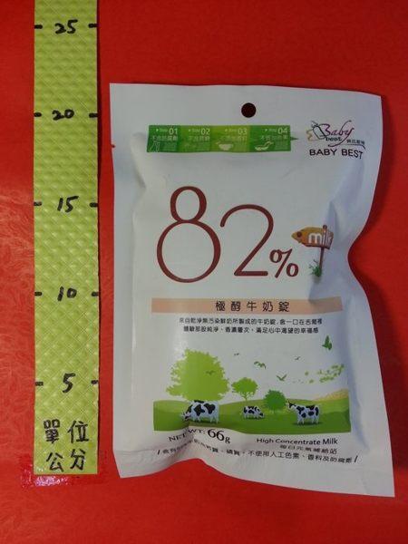 82% 極醇 牛奶錠 66g#貝比斯特
