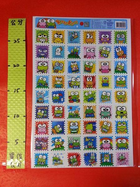 郵票格子貼紙 大眼蛙#三麗鷗系列