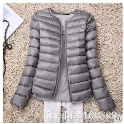 羽絨外套 輕薄羽絨服女圓領薄款羽絨內膽冬季新款輕便無領大碼短款外套
