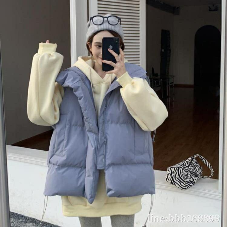 羽絨外套 羽絨服馬甲年新款女潮ins秋冬外穿韓版寬鬆加厚時尚棉服外套
