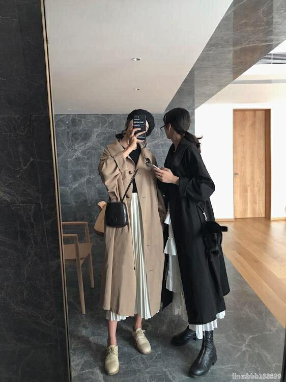 風衣外套 小玉醬【風衣王】風衣女新款中長款秋季外套韓版寬鬆流行大衣