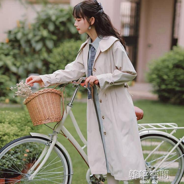 風衣 溫柔設計感風衣外套女裝秋季年新款爆款小個子顯高大衣中長款