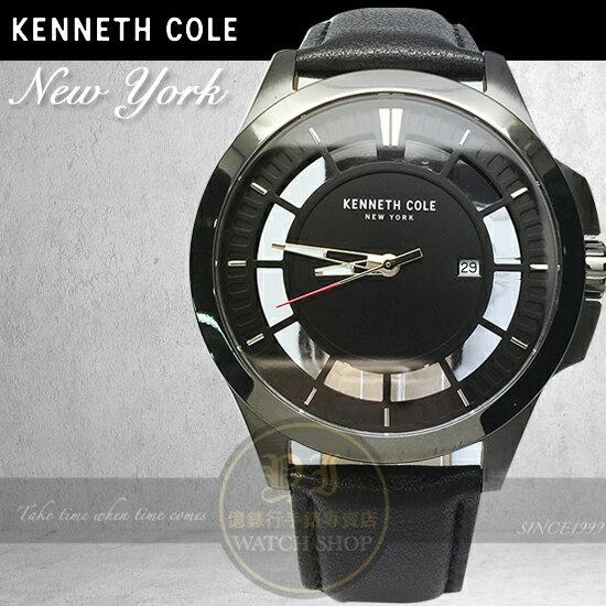 Kenneth Cole國際品牌簡約鏤空紳士腕錶KC10029297公司貨/設計師/禮物/情人節