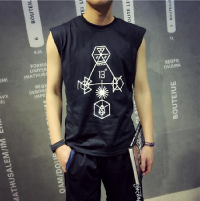 50^%OFF~F011095C~織帶棱角幾何圖型無袖背心上衣~短袖T襯衫 明星款GDEX