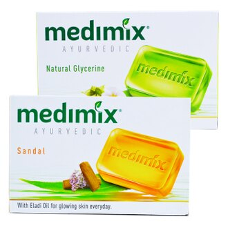 【巴布百貨】《升級白鑽版》美黛詩 MEDIMIX 印度綠寶石皇室藥草浴 美肌皂(125g)