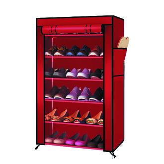 組合鞋架 鞋櫃│六層單排DIY鞋架(含頂層) 防塵鞋架 鞋櫃 鞋子收納 3