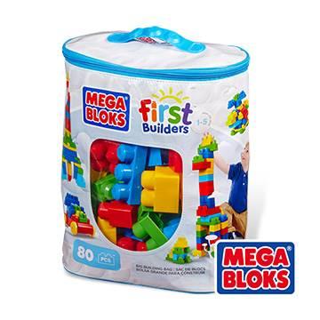 MEGA BLOKS-美高80片積木袋(藍)#3271★衛立兒生活館★ - 限時優惠好康折扣
