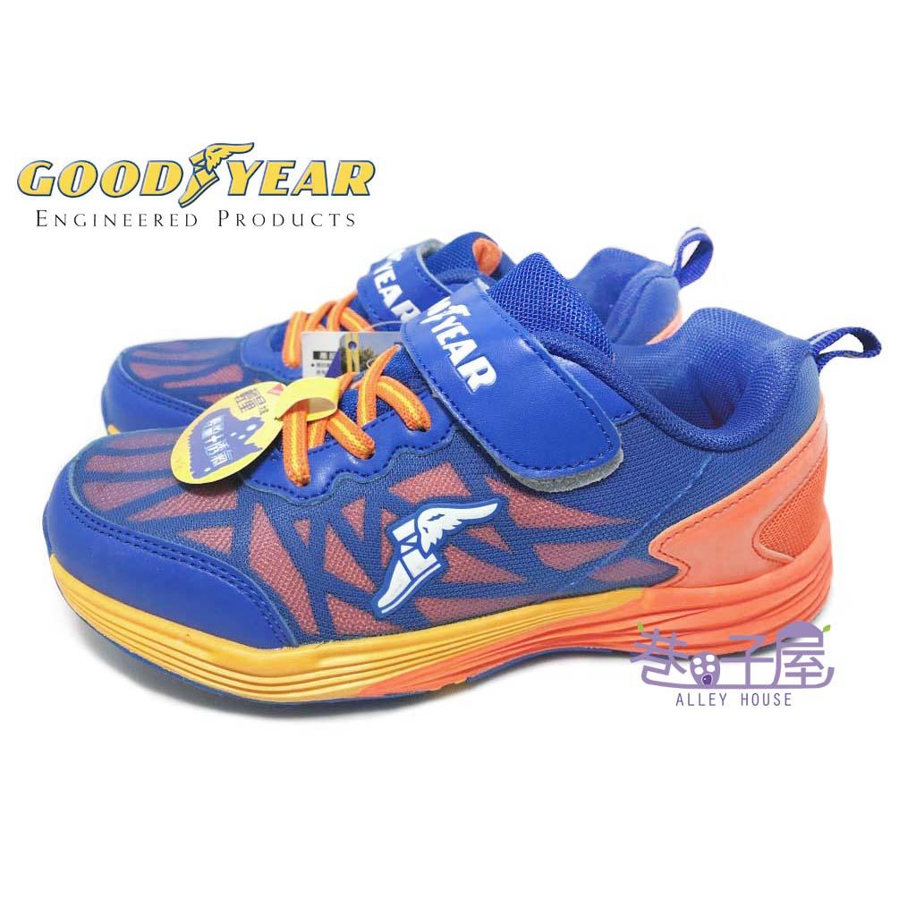 【巷子屋】GOODYEAR固特異 男童輕量機能運動慢跑鞋 [68406] 藍橘 超值價$498