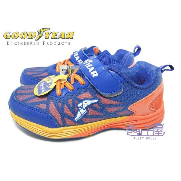 巷子屋:【巷子屋】GOODYEAR固特異男童輕量機能運動慢跑鞋[68406]藍橘超值價$498【單筆消費滿1000元全會員結帳輸入序號『CNY100』↘折100】