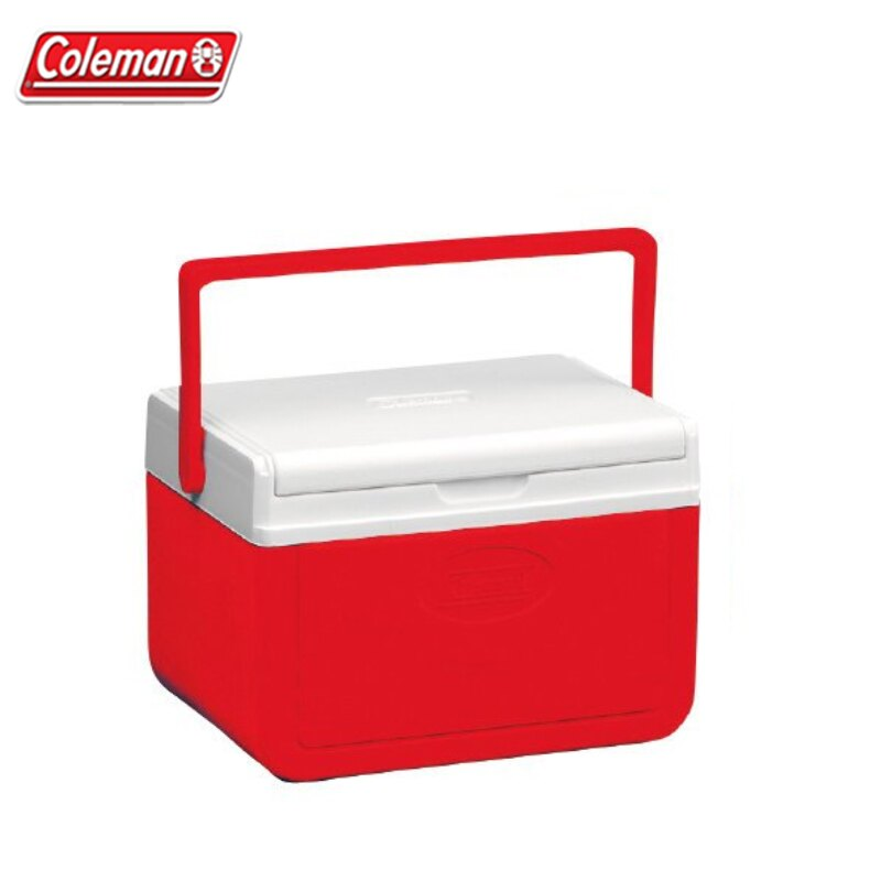 【露營趣】Coleman CM-01356 Take 紅冰箱 保冰桶 手提冰桶 露營冰桶 行動冰桶 野餐籃