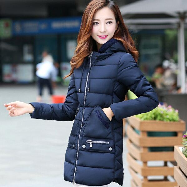 羽絨外套【心齋橋】韓版新款中長款時尚修身羽絨棉羽絨衣外套FAN2050(現+預)