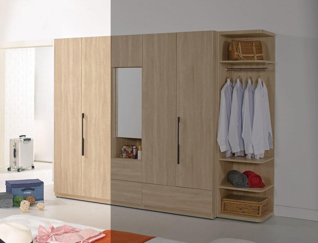 【尚品傢俱】CM-623-2 尼爾森2.7尺衣櫥(雙吊)