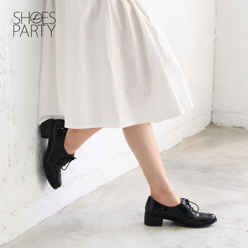 【現貨】【F2-17526P】日本製防水系列-綁帶牛津鞋_Shoes Party 2