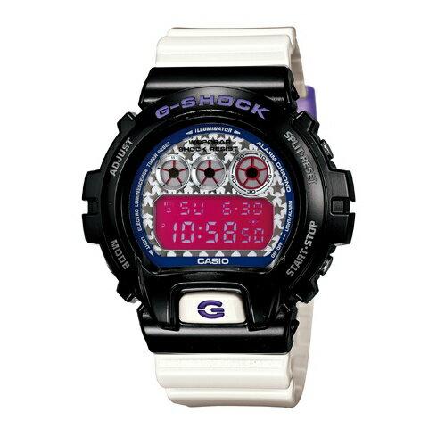 CASIO G-SHOCK DW-6900SC-1街頭亮星時尚腕錶/白面49mm