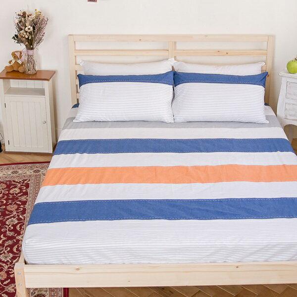 [SN]#B174#寬幅100%天然極緻純棉5x6.2尺雙人床包+枕套三件組(不含被套)*台灣製/床單/床巾