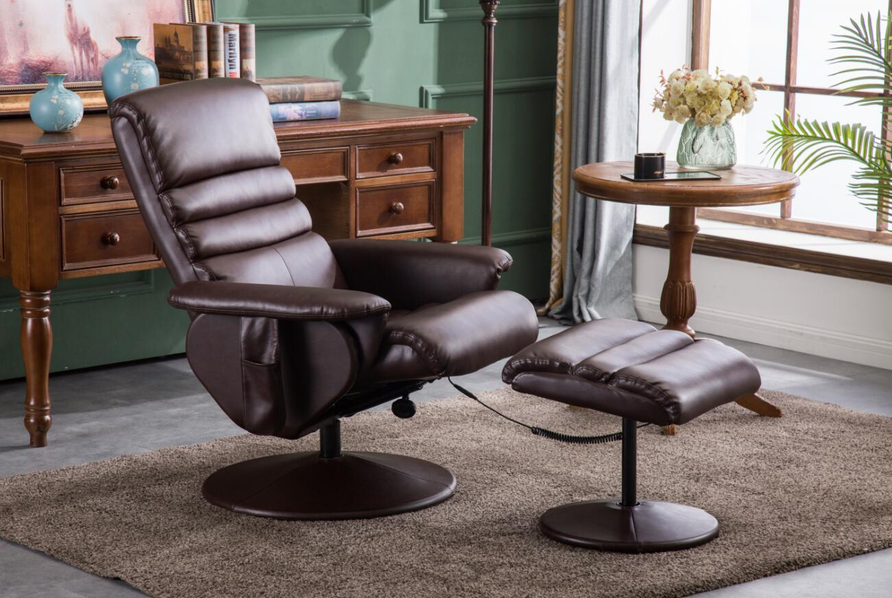 Outstanding Mcombo Electric Faux Leather Recliner Chair And Ottoman Swivel Gaming Massage Chair With Wrapped Base Remote Control For Video Game Office Home Pdpeps Interior Chair Design Pdpepsorg