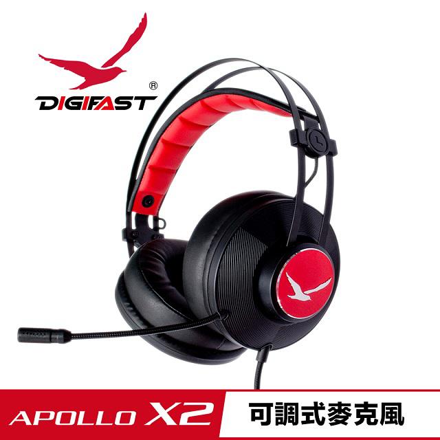 TWPAVILION1 【DIGIFAST】迅華APOLLO X2舒適可調式電競耳機 電腦耳機 耳罩式 耳機 多平台用