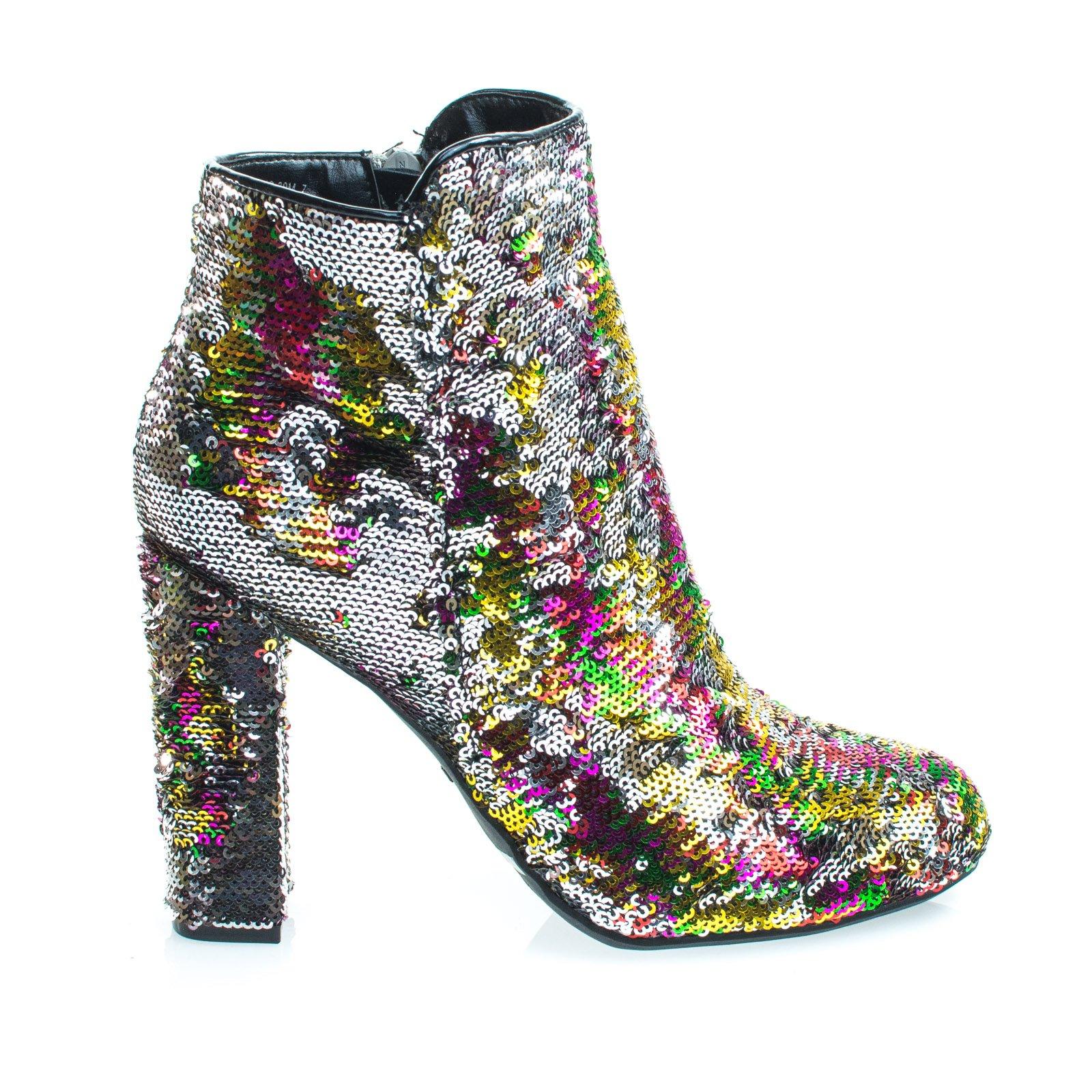 e97b54dc17a Aquapillar  Living39 Rainbow   Silver Reversible Sequins Block Heel ...