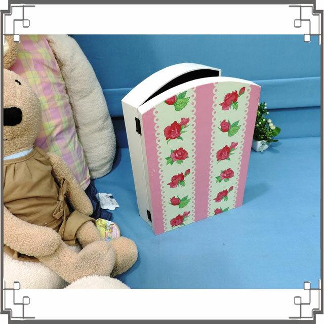 皮革KEY BOX《LK17-1》緞帶玫瑰木製皮革鑰匙盒 收納盒 壁櫃 壁飾 居家布置◤彩虹森林◥