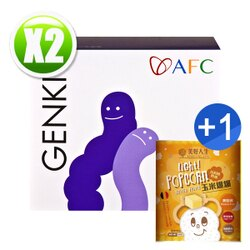 AFC宇勝淺山 元氣系列 每日快調顆粒食品-乳酸菌(60包/盒)x2 送【美好人生 玉米爆爆-比利時奶油 45g (奶素)x1 (送完為止)】