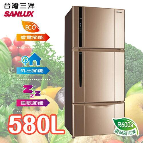 <br/><br/>  SANLUX SANYO 台灣三洋 580L三門直流變頻冰箱 SR-B580CV<br/><br/>
