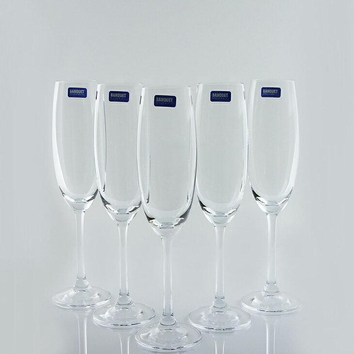 【曉風】水晶香檳杯*《Banquet Crystal 歐洲水晶香檳杯 220ml*6入/盒》 2