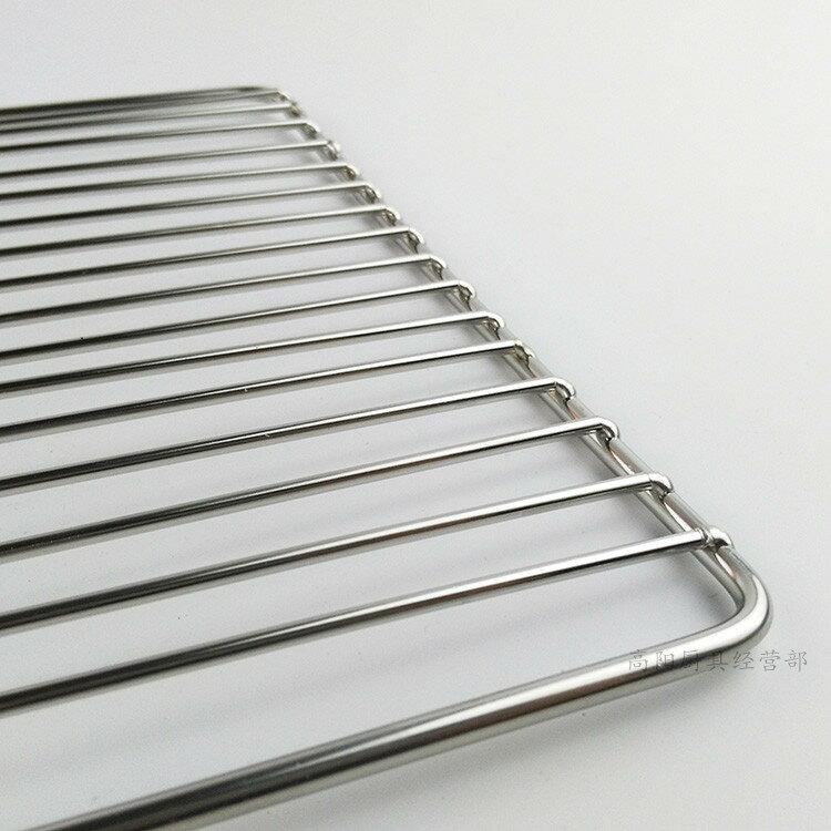 燒烤網片加粗不銹鋼網架烘焙烤箱網晾曬冷卻網日式烤爐專用燒烤網1入