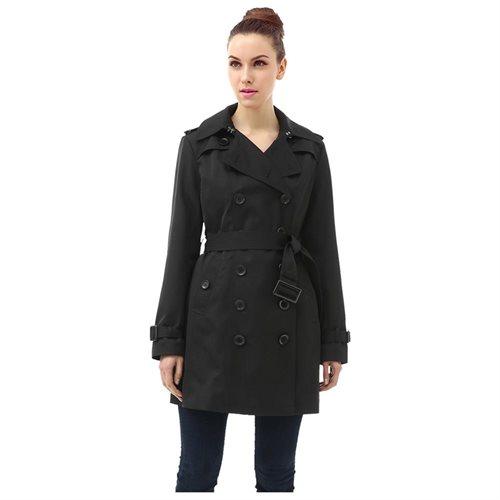 "BGSD Women's ""Leah"" Hooded Mid Length Trench Coat 1"