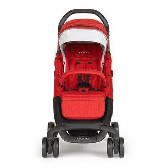 【組合現省$4100 再送贈涼感座墊+汽車椅連接器+玩偶】荷蘭【Nuna】Pepp Luxx 二代時尚手推車(紅色)+PIPA提籃 1