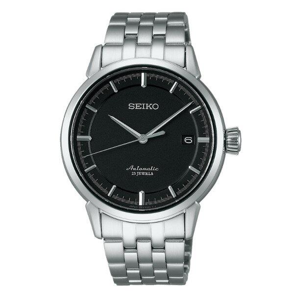Seiko Presage 6R15-02Y0D(SARX023J)經典羅馬雙日曆機械腕錶/黑面40mm