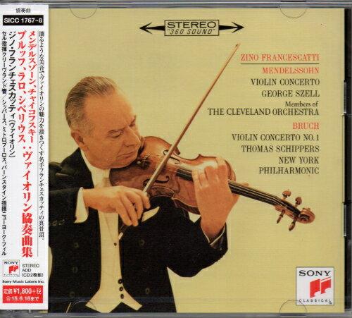 SONY 富蘭契斯卡第(Zino Francescatti)/孟德爾頌、柴可夫斯基、西貝流士:小提琴協奏曲、布魯赫:第1號小提琴協奏曲、拉羅:西班牙交響曲(Mendelssohn, Tchaikovs..