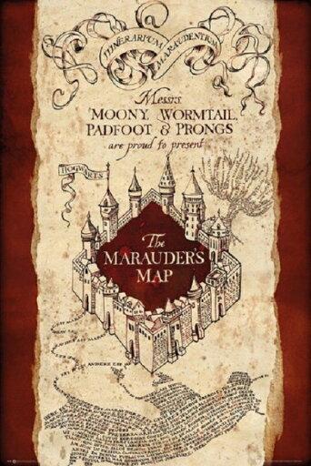 Harry Potter Marauders Map Poster Print, 24 x 36 8dba5c15fd54a075a7a98fb8bfecf385