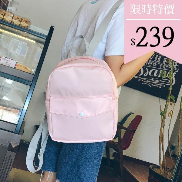 後背包-極簡素面輕尼龍後背包-6175- J II