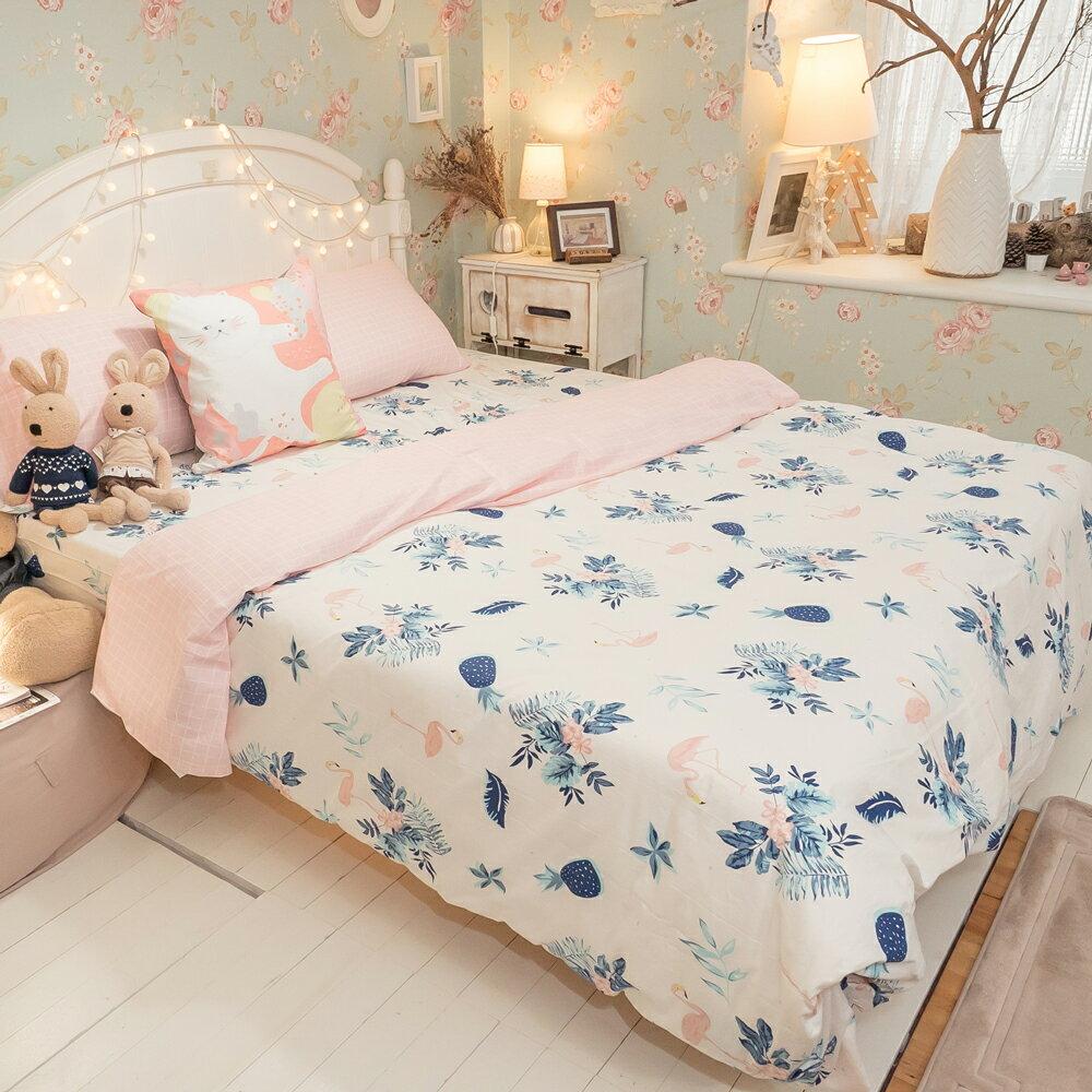 精梳棉 單人 / 雙人床包+薄被套組 台灣製造 棉床本舖 1