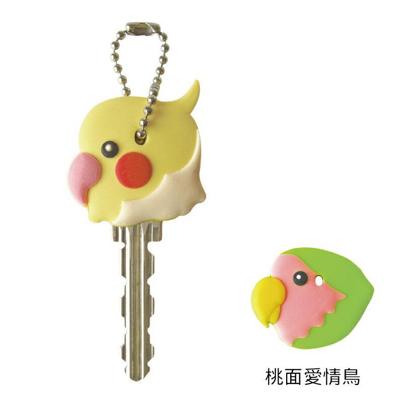 FIELD POINT 鳥造型鑰匙套 桃面愛情鳥