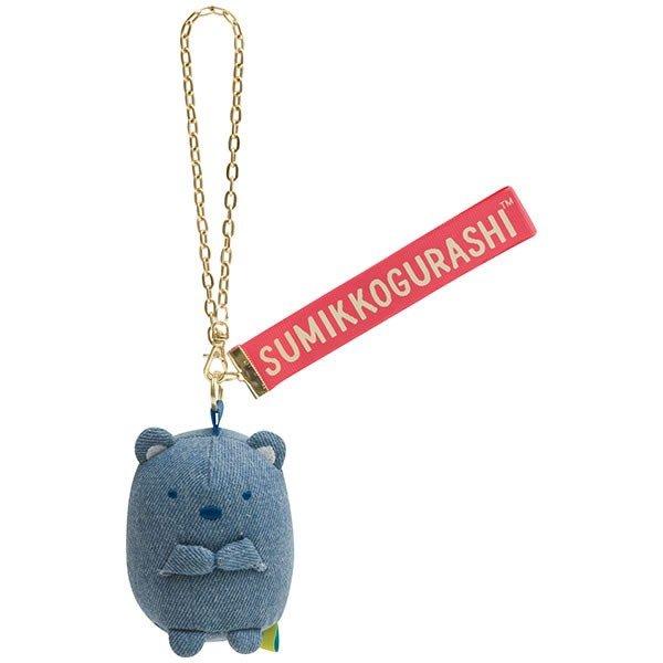 日貨 角落生物 吊飾 丹寧 白熊 掛飾 裝飾品 裝飾 鑰匙圈 配件 角落小夥伴 san-x 正版 J00030543