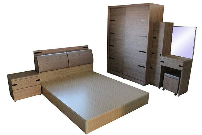 【尚品家具】 408-23 沙莉 5尺雙人床組/居家房間床組/出租屋床組/Bedroom Furniture