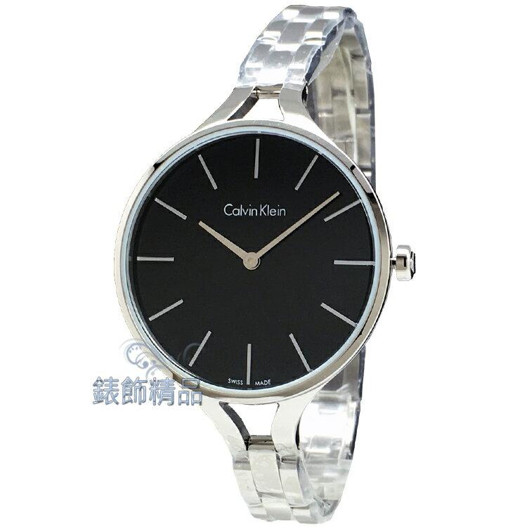 【錶飾精品】CK手錶Calvin Klein 雅緻都會風 K7E23141 黑面 細鍊帶女錶 全新原廠正品 情人生日禮品