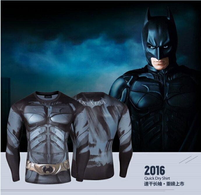 50%OFF【A016213C】(長袖)蝙蝠俠大戰超人長T漫威DC卡通復仇者聯盟電影歐美街頭男女可穿英雄速乾牛奶絲長T - 限時優惠好康折扣